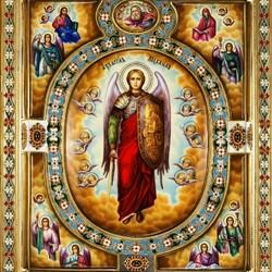 Пазл онлайн: Золотая икона. Архангел Михаил
