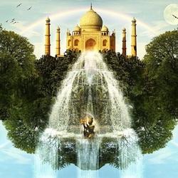 Пазл онлайн: Тадж-Махал