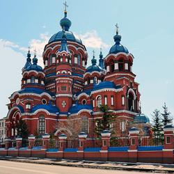 Пазл онлайн: Храм Казанской иконы Божией Матери в Иркутске