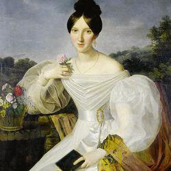 Пазл онлайн: Женщина в белом платье