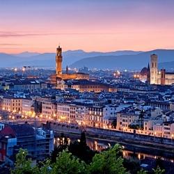 Пазл онлайн: Флоренция в сумерках