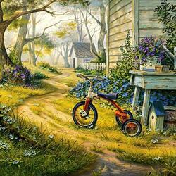 Пазл онлайн: Маленький велосипед