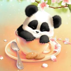 Пазл онлайн: Малышка панда