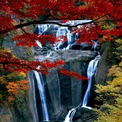 Пазл онлайн: Водопад Fukuroda