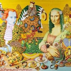 Пазл онлайн: Моцарт и Мона Лиза