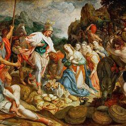 Пазл онлайн: Давид и Авигея