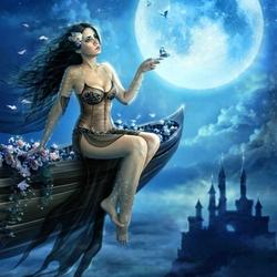 Пазл онлайн: В лунном сиянии