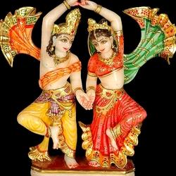 Пазл онлайн:  Танец Радхи и Кришны