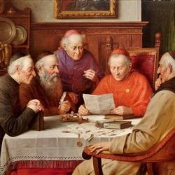 Пазл онлайн: Встреча кардиналов