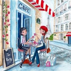 Пазл онлайн: Чай в Париже