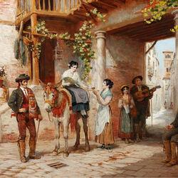 Пазл онлайн: Встреча невесты