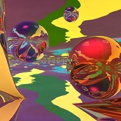 Пазл онлайн: Разноцветные шары