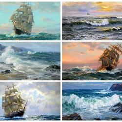 Пазл онлайн: Корабли и море