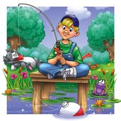 Пазл онлайн: Рыболов