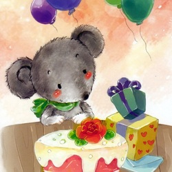 Пазл онлайн: Тортик для мышонка