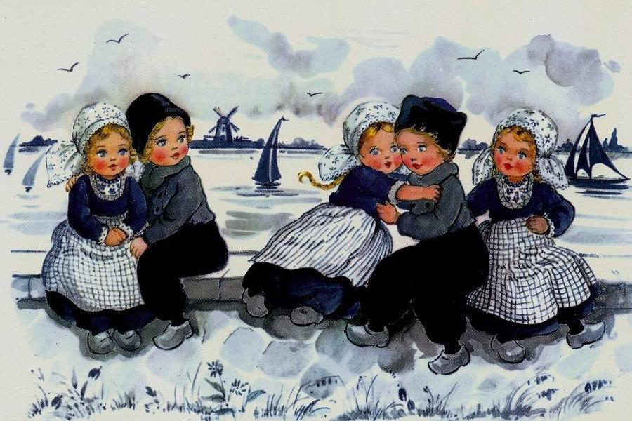 Винтажные голландские открытки