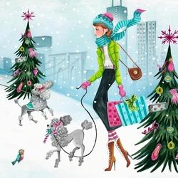 Пазл онлайн: Рождественский шопинг
