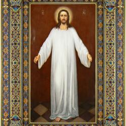 Пазл онлайн: Икона Спас в белых одеждах.