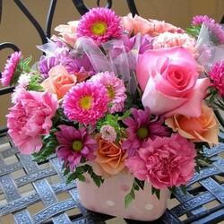 Пазл онлайн: Розовая смесь