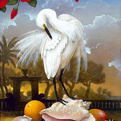 Пазл онлайн: Белая птица