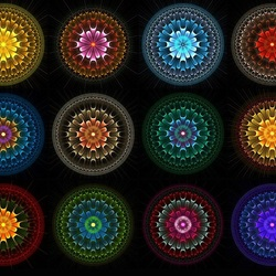 Пазл онлайн: Фрактальные круги