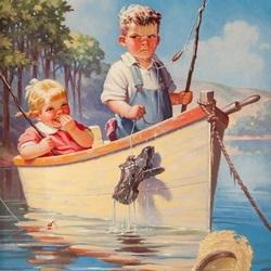 Пазл онлайн: Неудачливый рыбак