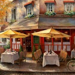 Пазл онлайн: Парижские кафе