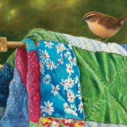 Пазл онлайн: Одеяло на просушке