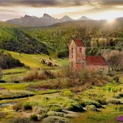 Пазл онлайн: Пейзаж со старым домом