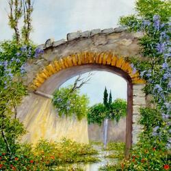 Пазл онлайн: Тосканский пейзаж