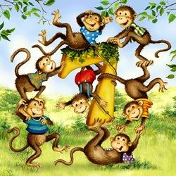 Пазл онлайн: Сколько обезьянок?