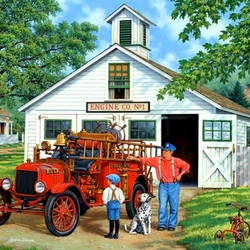 Пазл онлайн: Пожарный инспектор