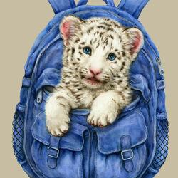 Пазл онлайн: Белый тигренок