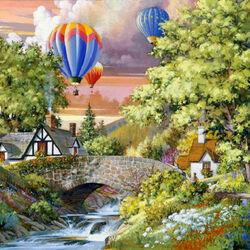 Пазл онлайн: Полет шаров