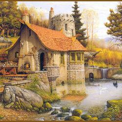 Пазл онлайн: Долина волшебника