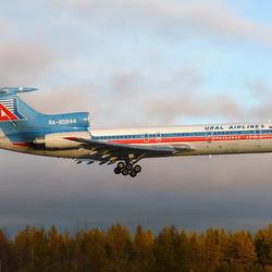 Пазл онлайн: Ту-154