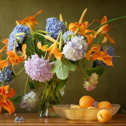 Пазл онлайн: С абрикосами