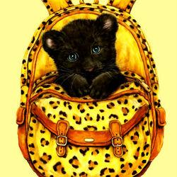 Пазл онлайн: Маленькая пантера