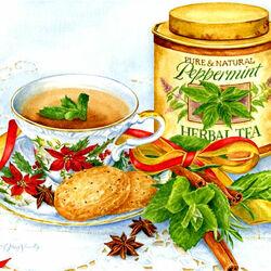 Пазл онлайн: Травяной чай