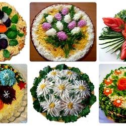 Пазл онлайн: Салатики к празднику!