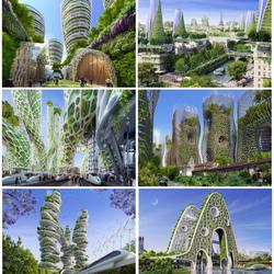 Пазл онлайн: Зеленый Париж