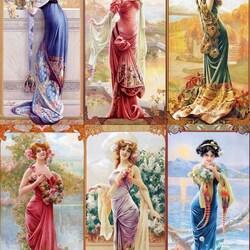 Пазл онлайн: Винтажные красавицы