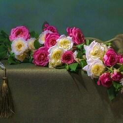 Пазл онлайн: Гирлянда роз