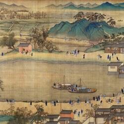 Пазл онлайн: The Kangxi Emperor's Southern Inspection Tour(IX)/Южный инспекционный Тур императора Канси (IX), 2