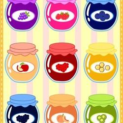 Пазл онлайн: Сладкие баночки