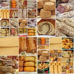Пазл онлайн: Сыр и колбасы