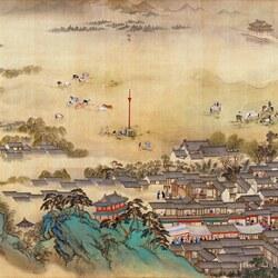 Пазл онлайн: The Kangxi Emperor's Southern Inspection Tour(IX)/Южный инспекционный Тур императора Канси (IX), 5