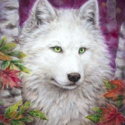 Пазл онлайн: Белый волк