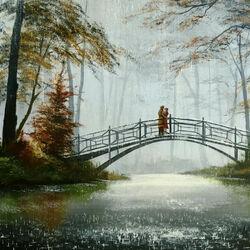 Пазл онлайн: На мосту