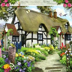 Пазл онлайн: Дом с соломенной крышей